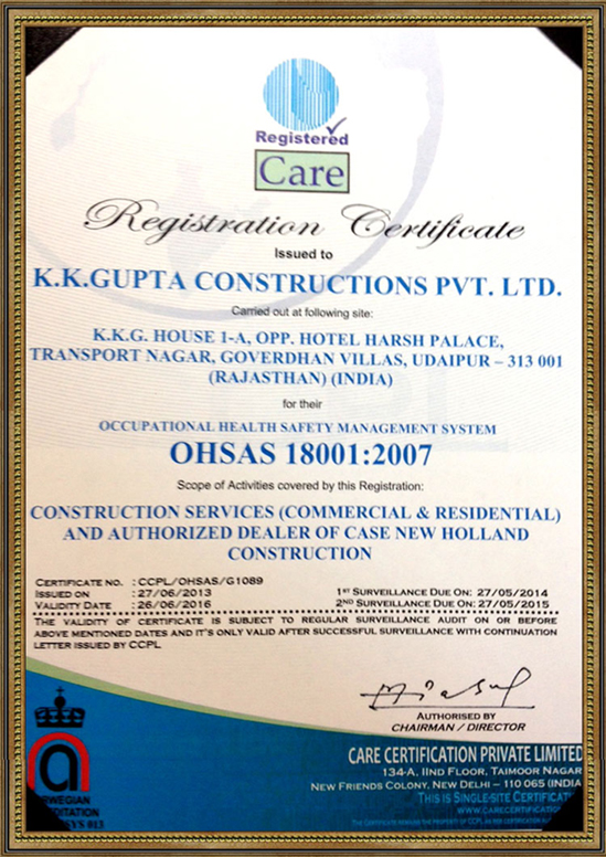 ISO 18001 (OHSAS) Certification