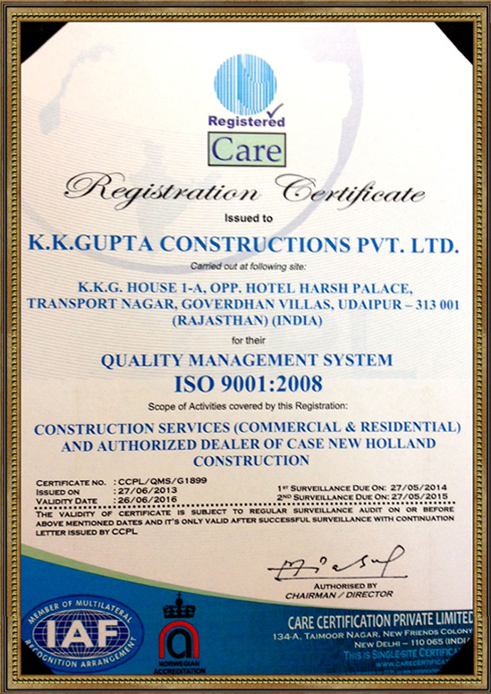 ISO 9001: 2008 (QMS) Certification