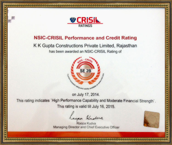 CRISIL RATING- SE-2B Certification